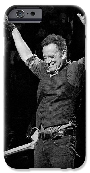 Bruce iPhone Cases - Bruce Springsteen iPhone Case by Jeff Ross