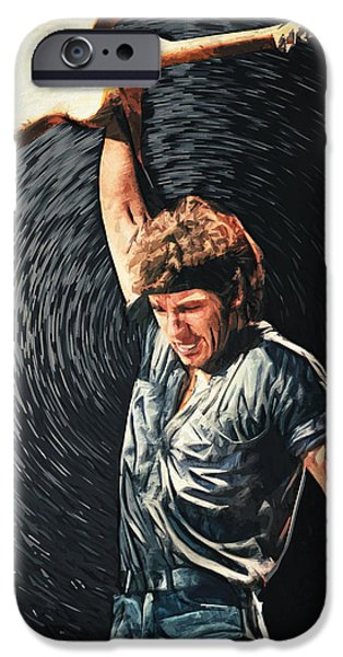 Springsteen iPhone Cases - Bruce Springsteen iPhone Case by Taylan Soyturk