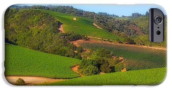 California Vineyard iPhone Cases - California Vineyards  iPhone Case by Mountain Dreams