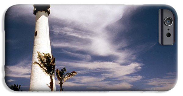 Marine iPhone Cases - Cape Florida Lighthouse iPhone Case by Skip Willits
