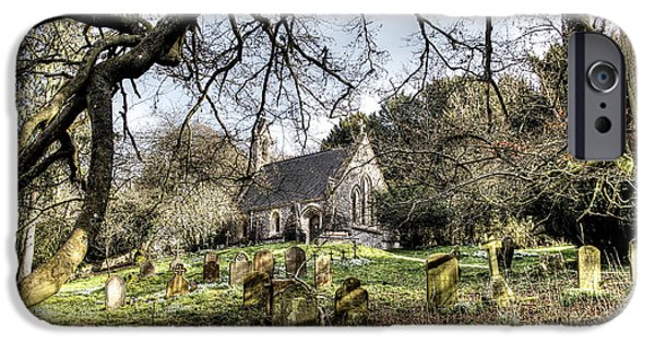 Cemetary iPhone Cases - Cemetery Chapel At Highclere Castle Aka Downton Abbey iPhone Case by Peggy Berger