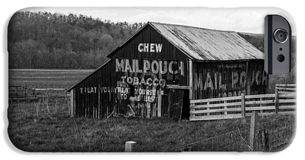 Old Barns iPhone Cases - Chew Mail Pouch In West Virginia iPhone Case by Mountain Dreams