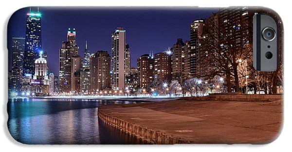 Wrigley iPhone Cases - Chicago from the North iPhone Case by Frozen in Time Fine Art Photography