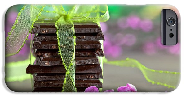 Slices iPhone Cases - Chocolate iPhone Case by Nailia Schwarz