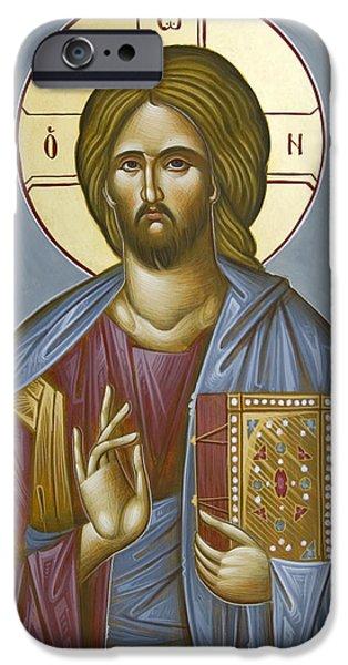 Christ Pantokrator iPhone Case by Julia Bridget Hayes