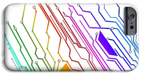 Abstract Digital Photographs iPhone Cases - Circuit Board Technology iPhone Case by Setsiri Silapasuwanchai