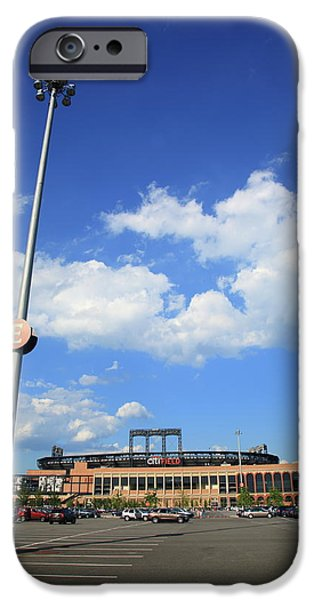 New York Baseball Parks iPhone Cases - Citi Field - New York Mets iPhone Case by Frank Romeo