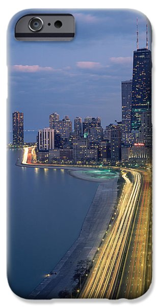 Sears Tower iPhone Cases - City At The Waterfront, Lake Michigan iPhone Case by Panoramic Images