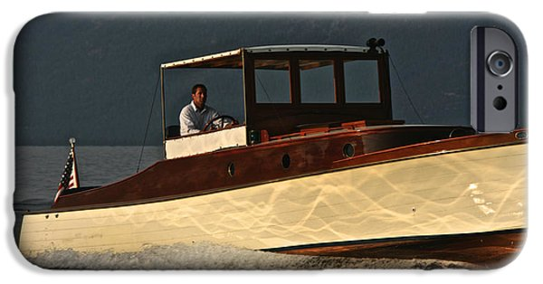 Boat iPhone Cases - Classic Cruiser iPhone Case by Steven Lapkin