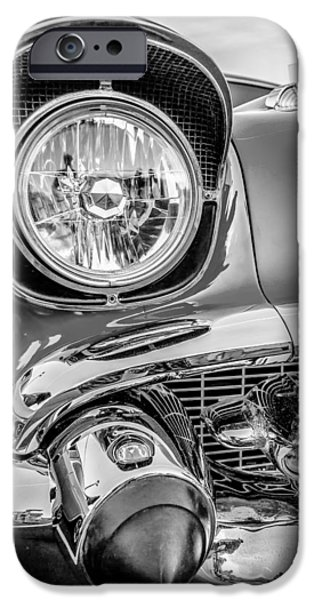 Old Cars iPhone Cases - Classic Vintage Car Details iPhone Case by Alexandr Grichenko