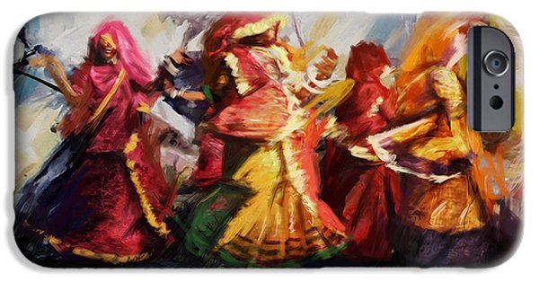 Corporate Art iPhone Cases - Classical Dance Art 16 iPhone Case by Maryam Mughal