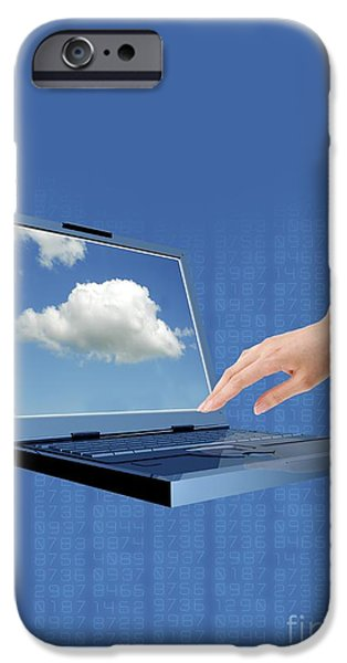 Virtual iPhone Cases - Cloud Computing iPhone Case by Victor Habbick Visions