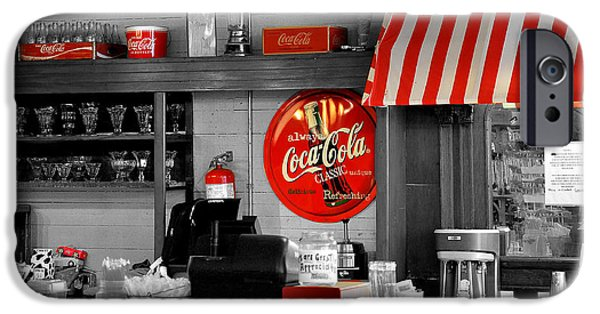 Sign iPhone Cases - Coca Cola iPhone Case by Todd Hostetter