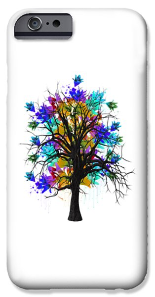 Branch iPhone Cases - Color Tree Collection iPhone Case by Marvin Blaine