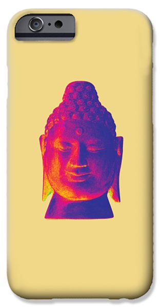 Asian Sculptures iPhone Cases - colorful Buddha - Borobudur iPhone Case by Terrell Kaucher
