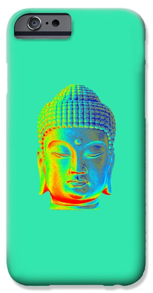 Asian Sculptures iPhone Cases - colorful Buddha - Korean iPhone Case by Terrell Kaucher