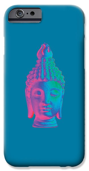 Zen Sculptures iPhone Cases - colorful Buddha - Sukhothai iPhone Case by Terrell Kaucher