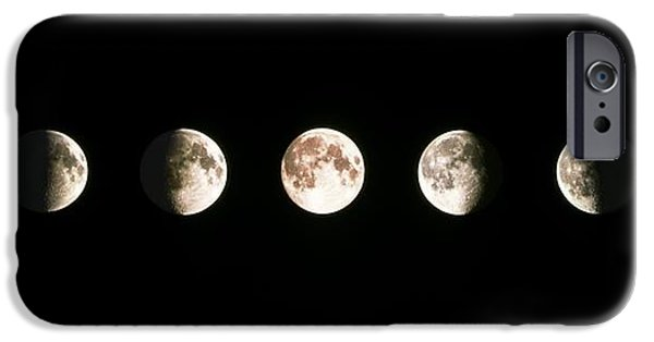 Moon iPhone Cases - Composite Image Of The Phases Of The Moon iPhone Case by John Sanford