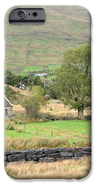 Cottage at the foothill of the colorful Connemara mountains Ireland  iPhone Case by Pierre Leclerc Photography