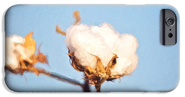Arkansas iPhone Cases - Cotton Boll iPhone Case by Scott Pellegrin