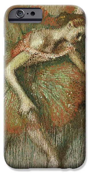 Tutus Paintings iPhone Cases - Dancers iPhone Case by Edgar Degas