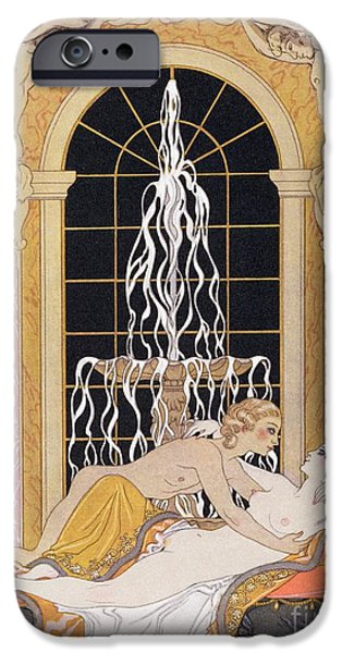 Cupid iPhone Cases - Dangerous Liaisons iPhone Case by Georges Barbier
