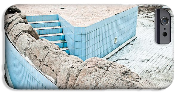 Alga Photographs iPhone Cases - Derelict swimming pool iPhone Case by Tom Gowanlock