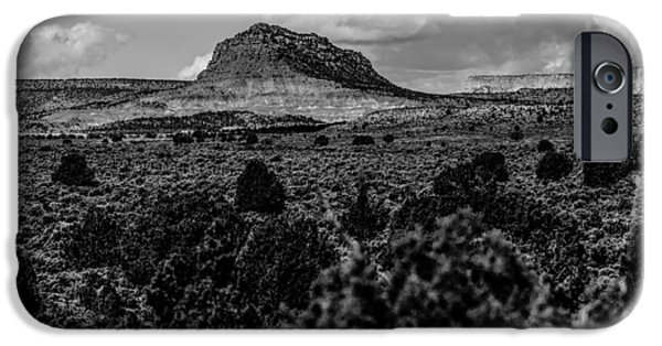 Red Rock iPhone Cases - Desert Landscapes In Utah With Sandy Mountains iPhone Case by Alexandr Grichenko