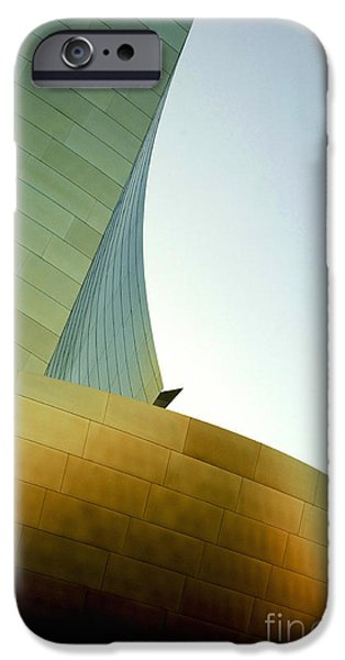 Metal Sheet iPhone Cases - Disney Concert Hall 6 iPhone Case by Micah May