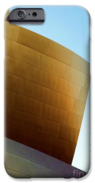Metal Sheet iPhone Cases - Disney Concert Hall 7 iPhone Case by Micah May