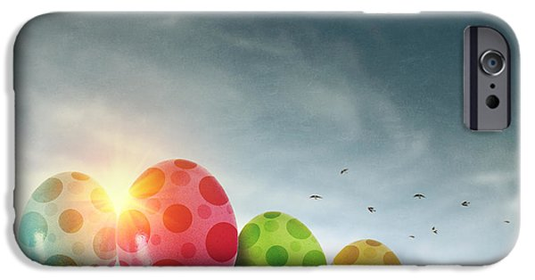 Easter Celebration iPhone Cases - Easter Eggs iPhone Case by Carlos Caetano