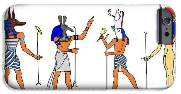 Hathor iPhone Cases - Egyptian Gods and Goddess iPhone Case by Michal Boubin