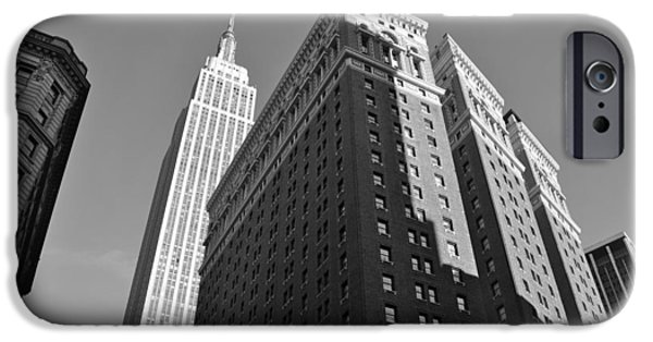 Empire State iPhone Cases - Empire State Building in NYC iPhone Case by Victoria Lipov