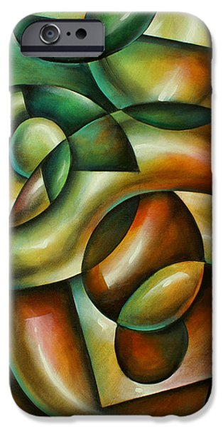 Abstract Movement iPhone Cases - Evolution iPhone Case by Michael Lang