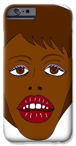 Model Drawings iPhone Cases - Fashion illustration iPhone Case by Frank Tschakert