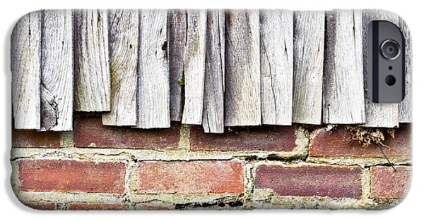 Torn iPhone Cases - Fence panels iPhone Case by Tom Gowanlock