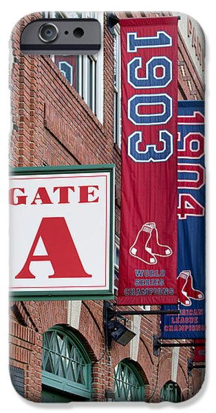 Fenway Park iPhone Cases - Fenway Park Gate A iPhone Case by Jerry Fornarotto