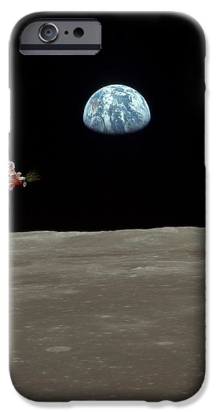 Fifi goes to the moon iPhone Case by Michael Ledray