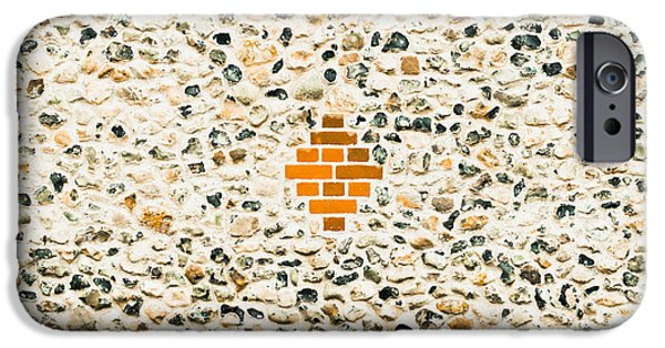 Industry iPhone Cases - Flint stone wall iPhone Case by Tom Gowanlock