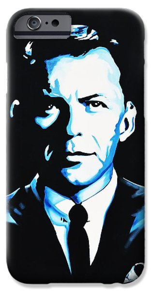 Frank Sinatra Paintings iPhone Cases - Frank Sinatra iPhone Case by Richard Garnham