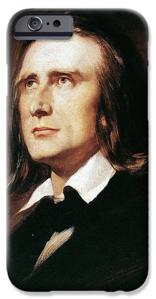 19th Century iPhone Cases - Franz Liszt (1811-1886) iPhone Case by Granger