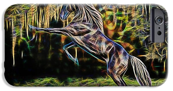 Horse iPhone Cases - Freedom iPhone Case by Marvin Blaine