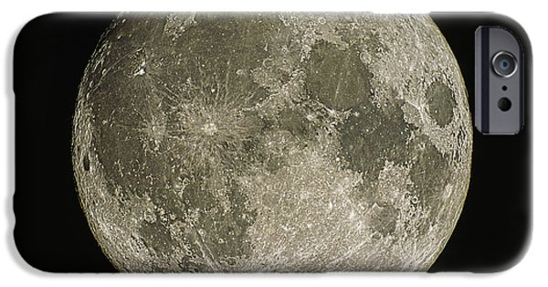 Lunar iPhone Cases - Full Moon iPhone Case by Eckhard Slawik