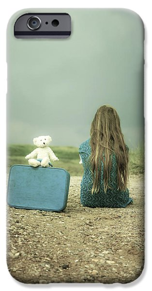 Stuffed Animal iPhone Cases - Girl In The Dunes iPhone Case by Joana Kruse