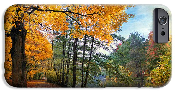 Country Lanes iPhone Cases - Golden Carpet iPhone Case by Jessica Jenney