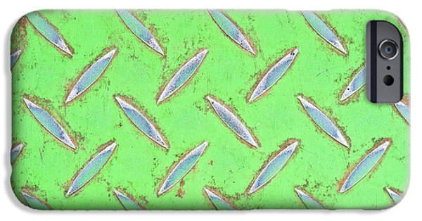 Dump iPhone Cases - Green metal iPhone Case by Tom Gowanlock