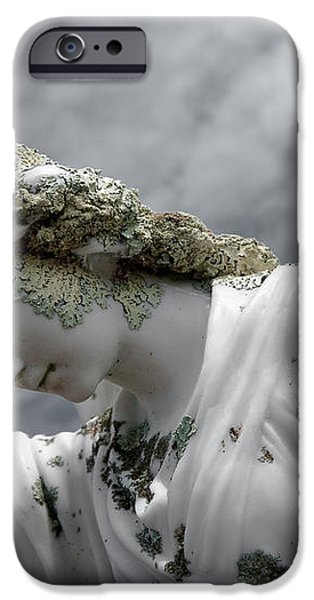 Grieving Angel iPhone Case by Yurix Sardinelly