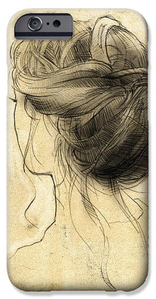 Loose Style iPhone Cases - Hair Study iPhone Case by H James Hoff