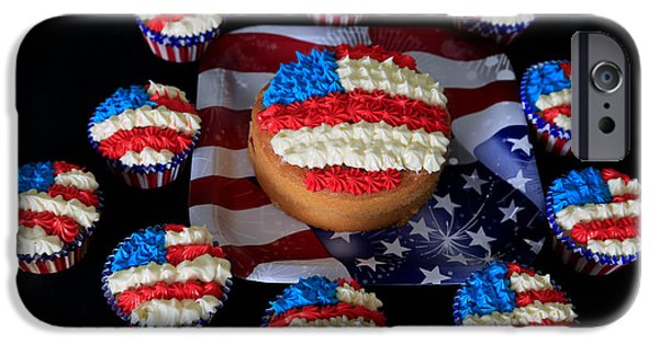 4th July Photographs iPhone Cases - Happy 4th July iPhone Case by Tracy  Hall