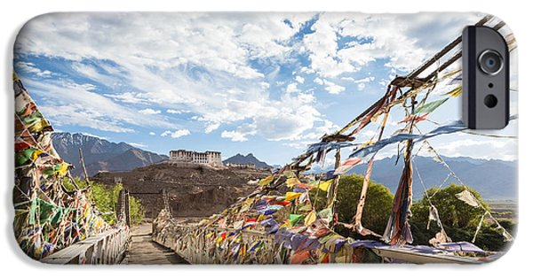 Tibetan Buddhism iPhone Cases - Hemis monastery in Ladakh in India iPhone Case by Didier Marti